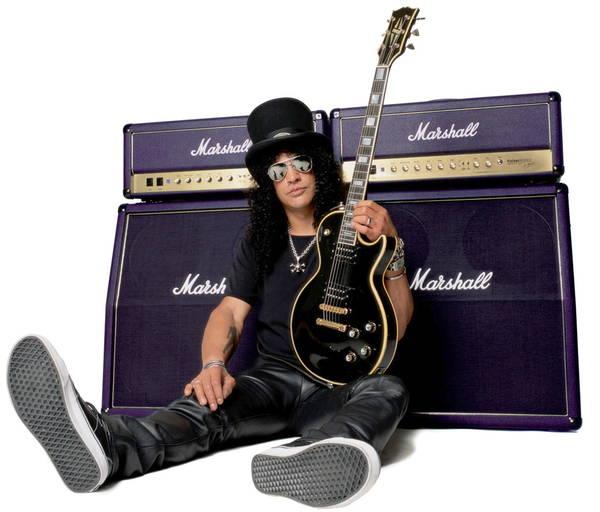 Ook Slash scoorde vrouwen door Marshall. Denken we.