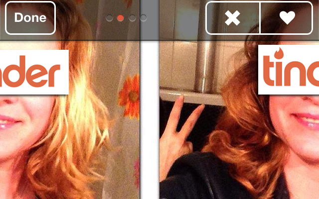 Weg met dubbele Tinderfoto's!