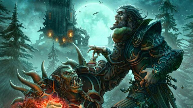Screenshot van de World Of Warcraft-film. Links zie je Paula Patton. Rechts ook. Iets met een dubbelrol.