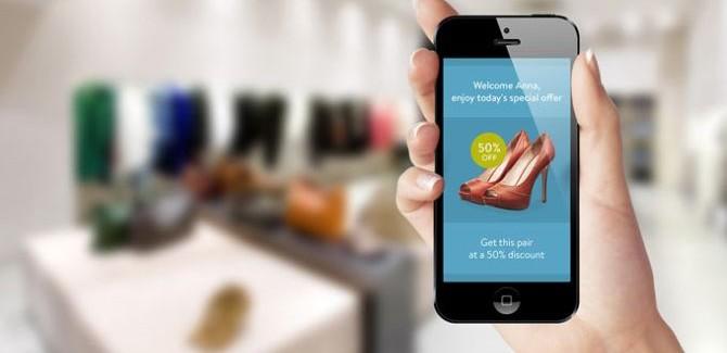 Met iBeacon lopen we letterlijk van de normale wereld in de digitale