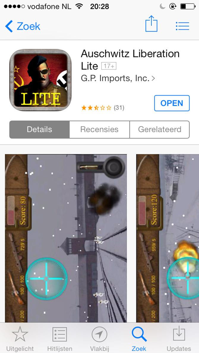 App Auschwitz Liberation Lite appstore