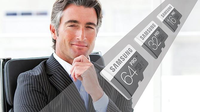 Samsung PRO geheugenkaart
