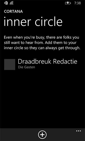 Je aller-, allerbeste vrienden kunnen je altijd bellen. Zelfs als je Cortana hebt gevraagd om je even niet te storen.