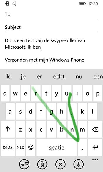 Het toetsenbord van Windows Phone was al uitstekend, nu nog iets uitstekender.