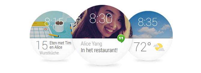 Ronde beeldschermen vragen om ronde interfaces. Dat is best wel tof eigenlijk.