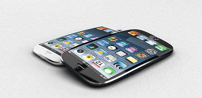 Een gebogen scherm op iPhone 6