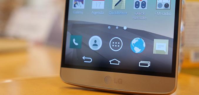 LG G3 tekst