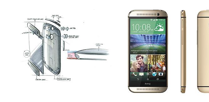 HTC One M8 schets