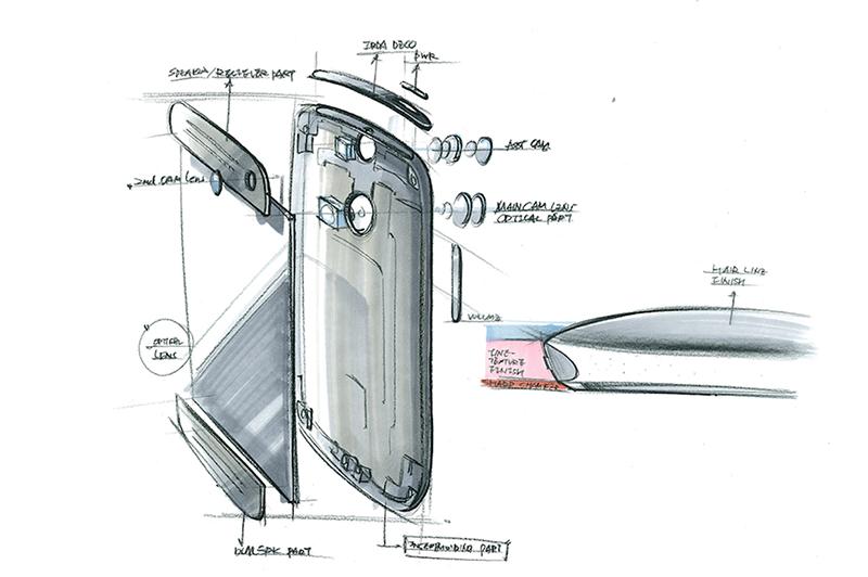 Schets van HTC One M8