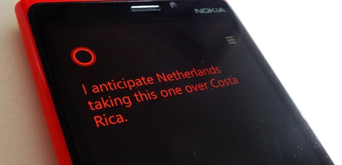 Microsofts Cortana voorspelt: 'Nederland wint van Costa Rica'