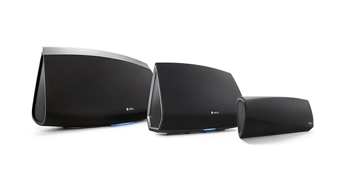 De drie speakers van HEOS by Denon.