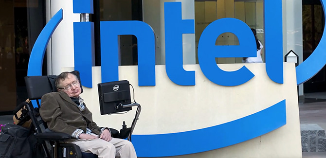 Stephen Hawking is 'Intel inside'
