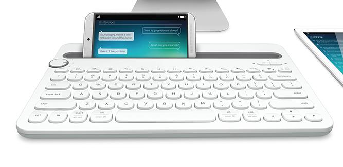 Whatsappen en typen tegelijk met K480 van Logitech
