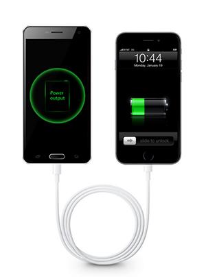 Links de P500, die het leven redt van een iPhone