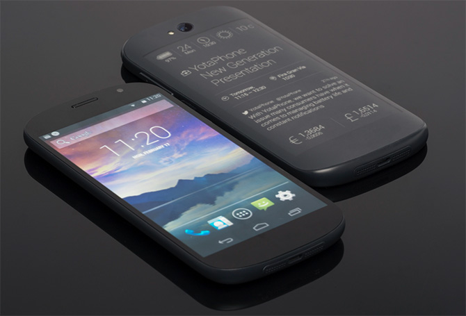 YotaPhone in vol ornaat.