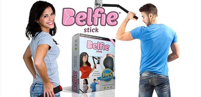 Eindelijk knappe selfies van je reet dankzij de 'belfiestick'
