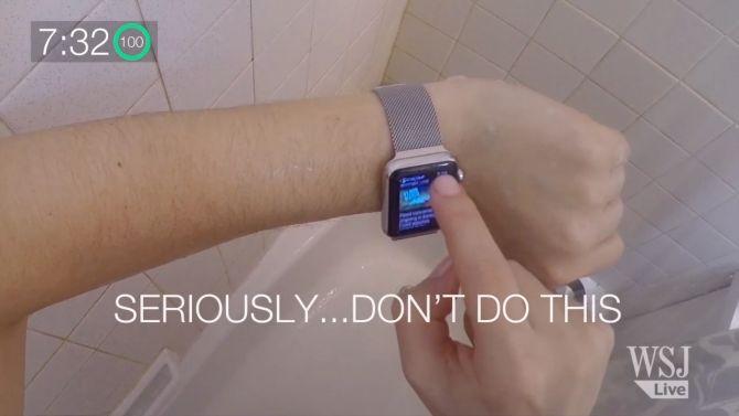 Nee, ga nooit douchen met een camera op je hoofd.