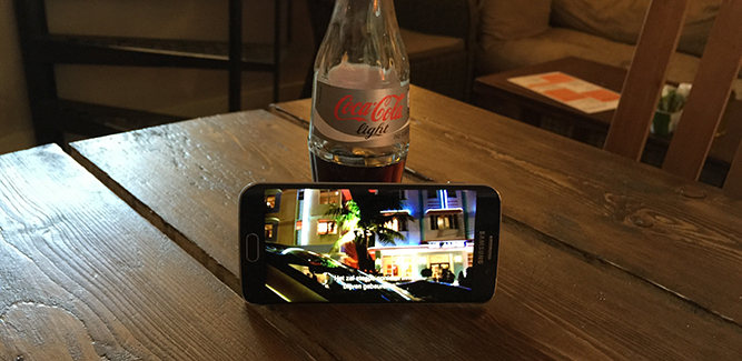 Galaxy S6 Edge cola light.