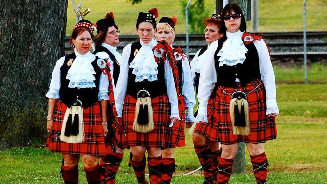 In Schotland is rokjesdag toch wat minder leuk