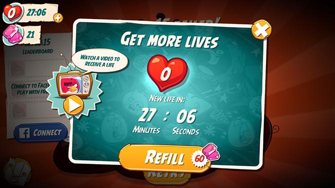 Een half uur?! In die tijd zijn er alweer drie Angry Birds spin-offs gelanceerd!