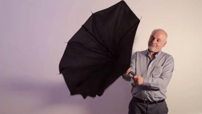 Geloof het of niet, maar dit HOORT dus bij deze paraplu