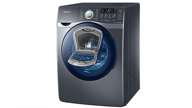 Een wasmachine met extra deurtje. Geniaal in al zijn eenvoud.