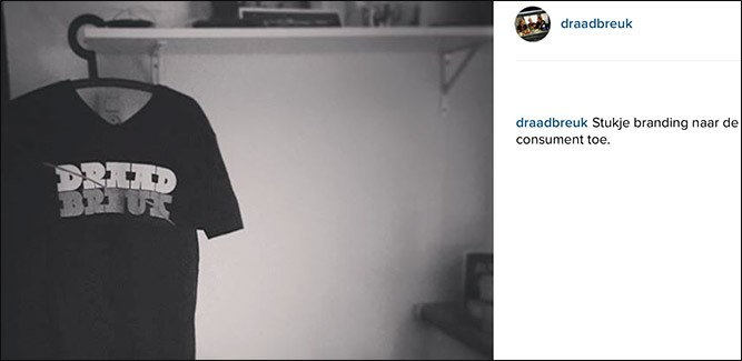 Nu te koop: Draadbreuk t-shirt!