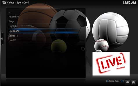 Eredivisie Live voetbal kijken via Kodi XMBC