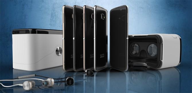 De wandelgangen met Galaxy S7, HTC en Alcatel's VR!
