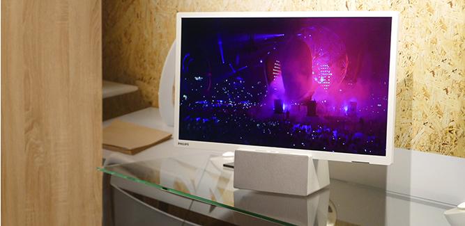 Een Philips-tv met bluetoothspeaker in één. Wie zegt dat Philips geen gekke dingen doet?