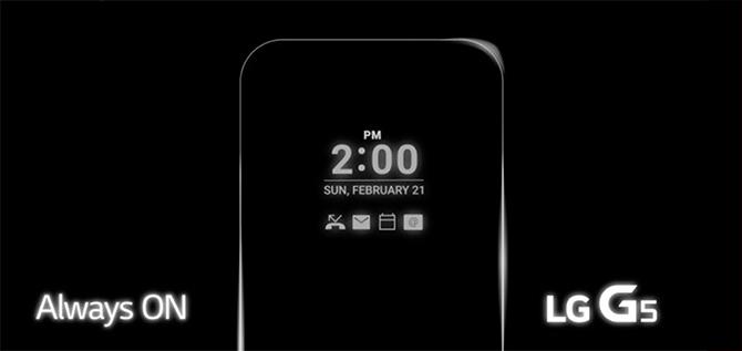 LG teast minst spannende functie van LG G5: always on scherm