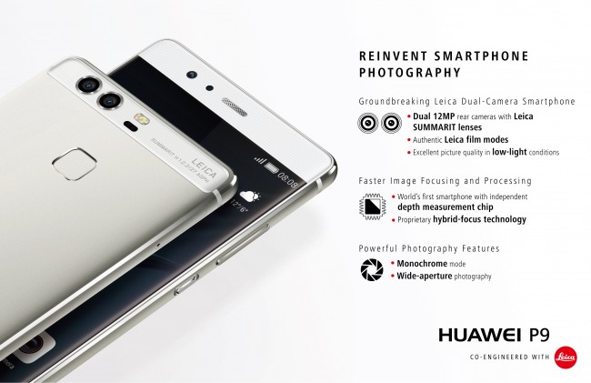 huawei p9 infographic