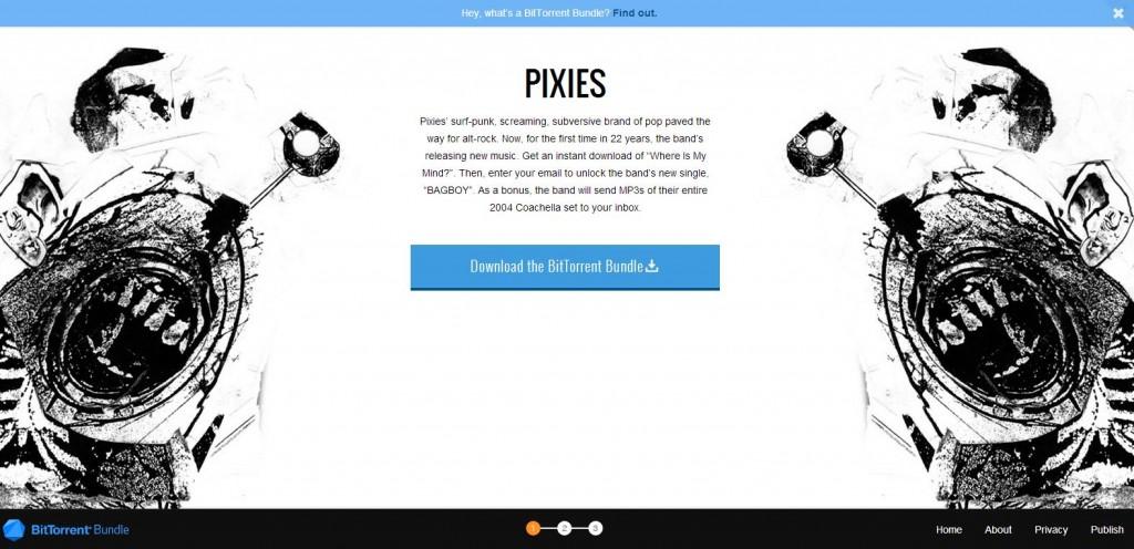 Pixies landingspagina. Of je hier even je mailadres achter wilt laten
