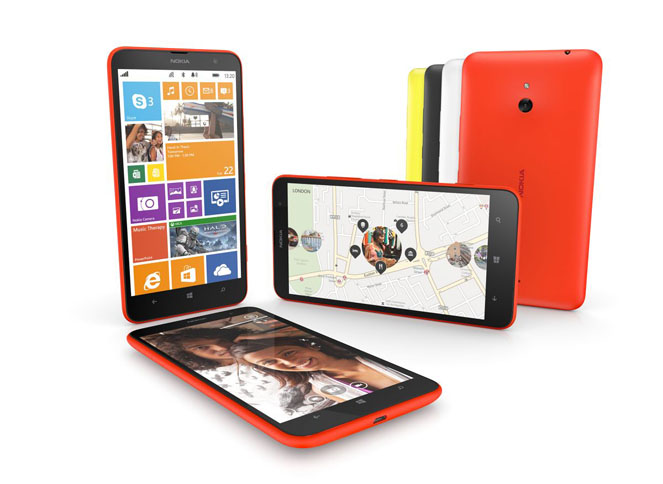 De Nokia Lumia 1320 weegt 220 gram. Echt.