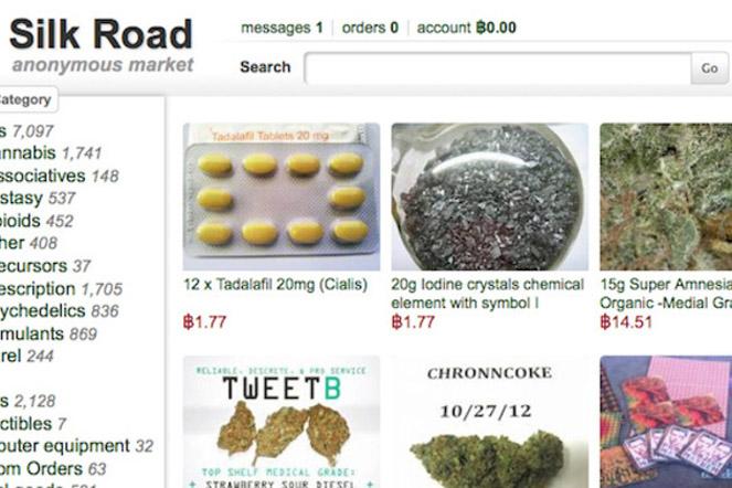 Met 340 verschillende soorten drugs is Silk Road is er voor bijna elke dag wel wat.