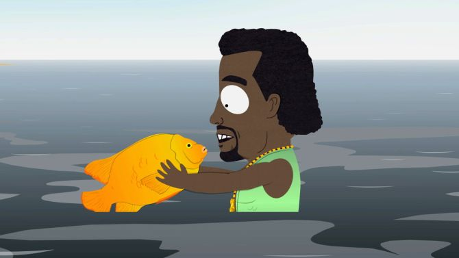 """Hey Kanye, do you like fish dicks?"""