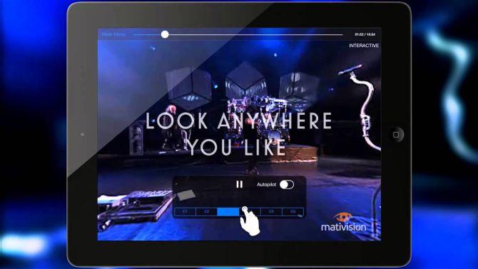 Bij de app van Dream theatre sta je tussen de muzikanten op het podium