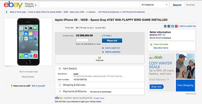 Geen Flappy Bird op iPhone?