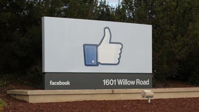 Facebook begroet zo bezoekers op het hoofdkantoor. Ook de nieuwe collega's van Zite.