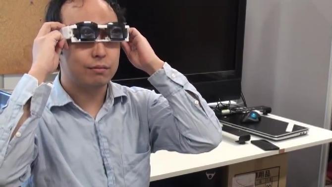 Vroeger plakten ze luie ogen af, nu projecteren ze ze gewoon op een bril