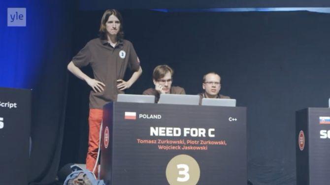 De winnaars uit Polen vielen elkaar net niet in de armen toen ze hoorden dat ze hadden gewonnen
