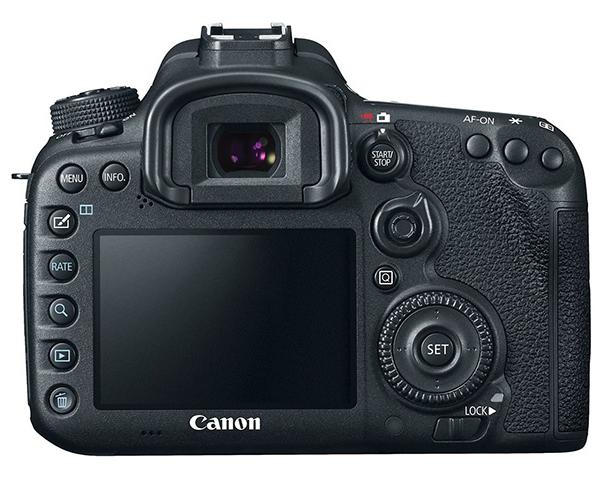 Achterkant Canon EOS 7D Mark II