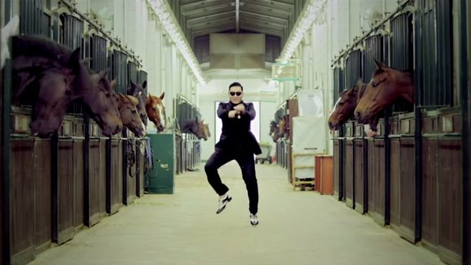 Psy heeft geen nummer 1-notering nodig voor een vreugdedansje