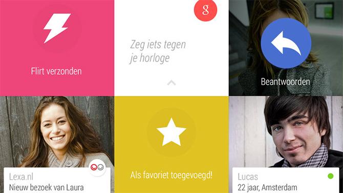 Daten via je smartwatch ziet er zo uit, als het aan datingsite Lexa ligt.