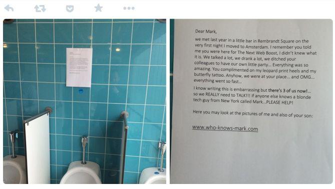 Ach, zo'n briefje hangt bij Ger wekelijks op het toilet.