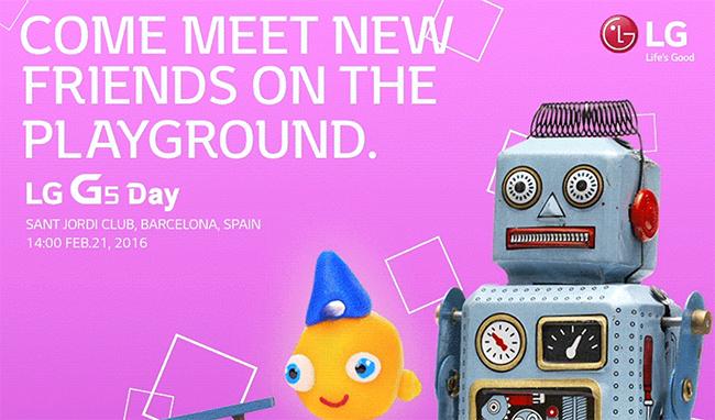 Zijn er robots op LG G5-day? MWC 2016