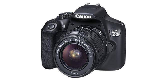 De instap DSLR van Canon.
