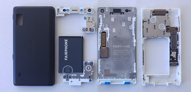 Fairphone 2 in stukken