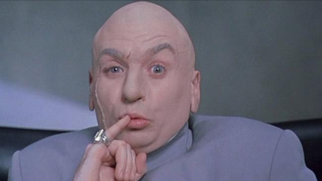 Onbevestigd: Peter Thiel wil de Gawker-redactie voeren aan 'sharks with frickin' laser beams attached to their frickin' heads'.