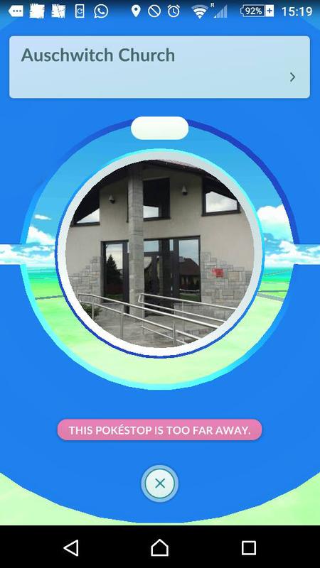 Pokemon Go Auschwitz